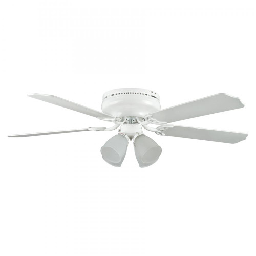 Concord 52 Inch Montego Bay Deluxe Ceiling Fan W/ 4Lt Kit - White 52Mbd5Wh