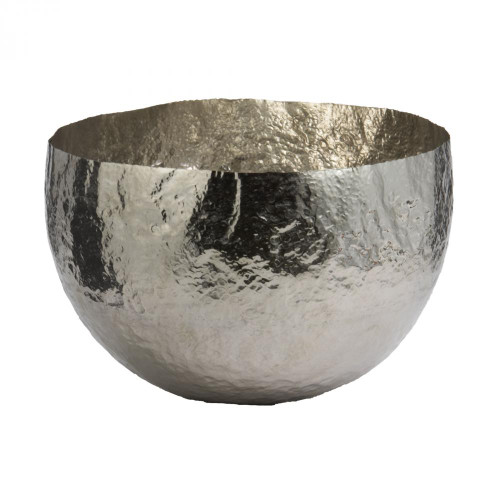 Dimond Nickel Plated Hammered Brass Dish - Large 346018