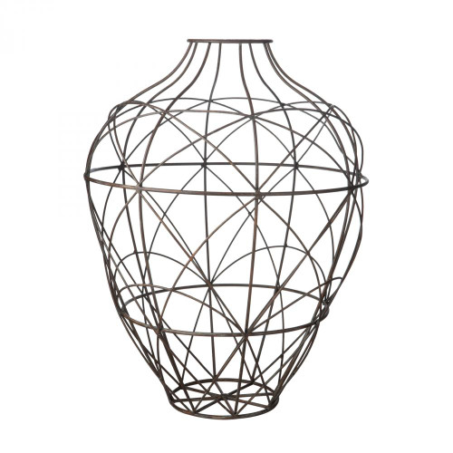 Dimond Wire Vessel In Russet - Small 594013