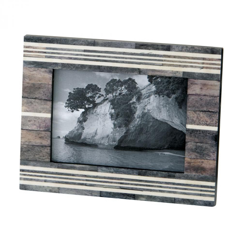 Dimond Gray And White 4X6 Horn And Bone Frame 903006