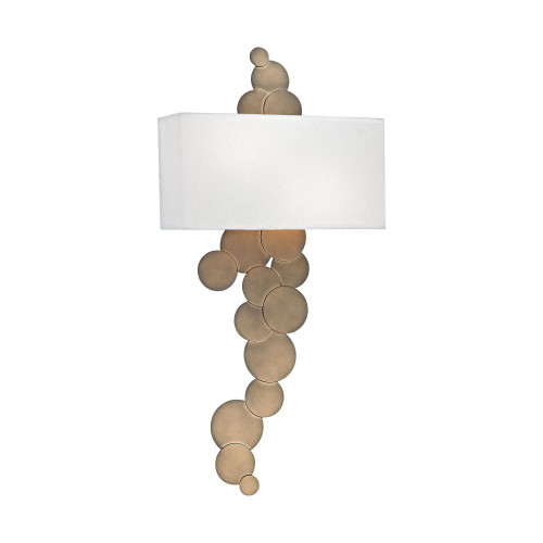 Dimond Holepunch 2 Light Wall Sconce In Gold Leaf 1124-004