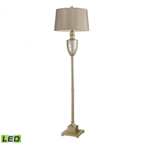 Dimond Elmira Antique Mercury Glass LED Floor Lamp With Silver Accents 113-1139-LED