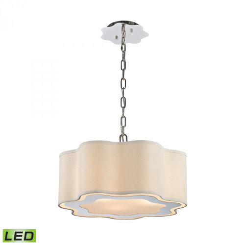 Dimond Villoy LED Polished Stainless Steel, Polished Nickel Pendant Light-1140-018-LED