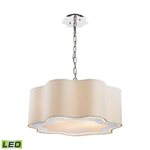 Dimond Villoy LED Polished Stainless Steel, Polished Nickel Pendant Light-1140-019-LED