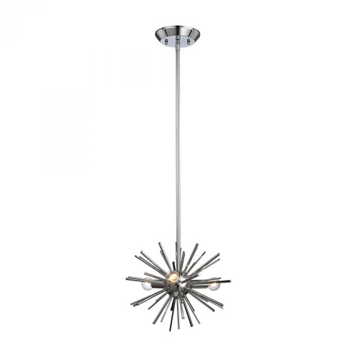 Dimond Starburst Polished Chrome Pendant Light-1140-026