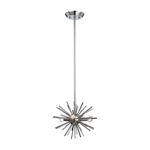 Chandeliers/Pendant Lights By Dimond Starburst 3 Light Pendant In Chrome 1140-026