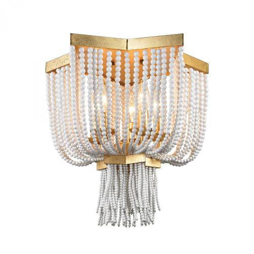 Dimond Chaumont 5 Light Flush Mount In Antique Gold Leaf 1142-009