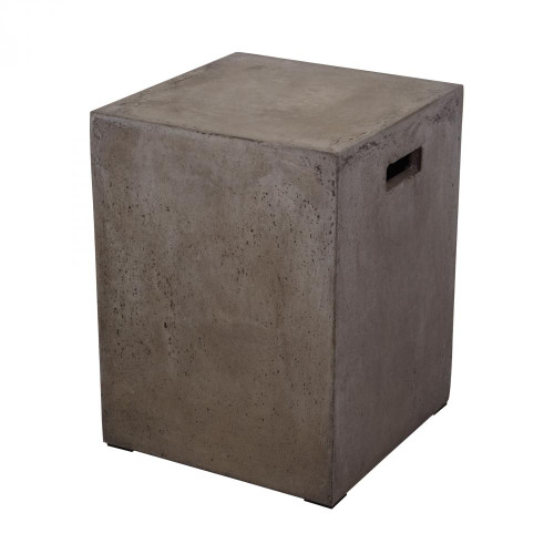 Dimond Cubo Square HandLED Concrete Stool 157-004