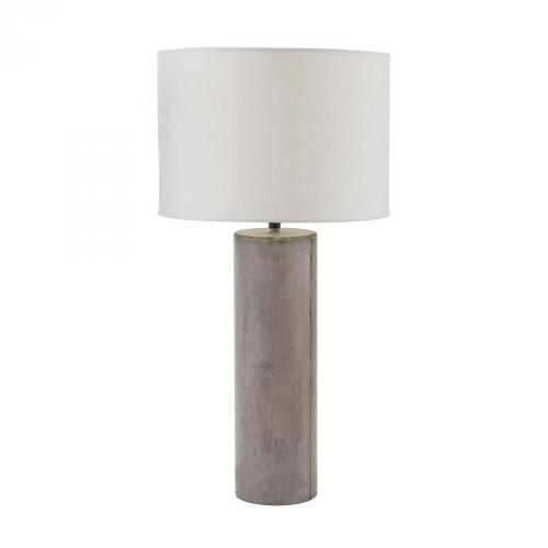 Dimond Cubix Round Desk Lamp In Natural Concrete 157-013