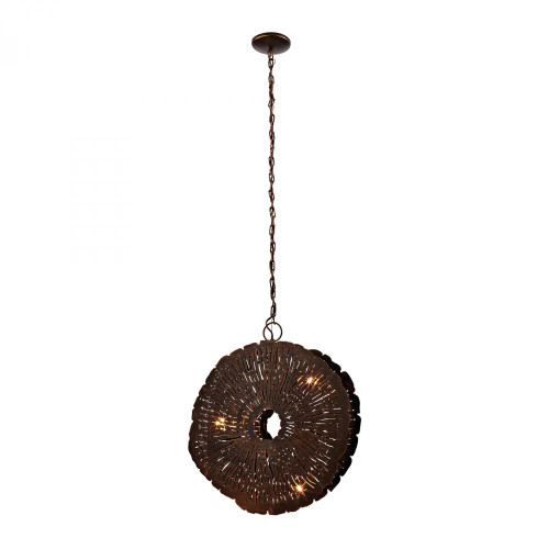 Dimond Organic Metal Gold Pendant Light-468-051