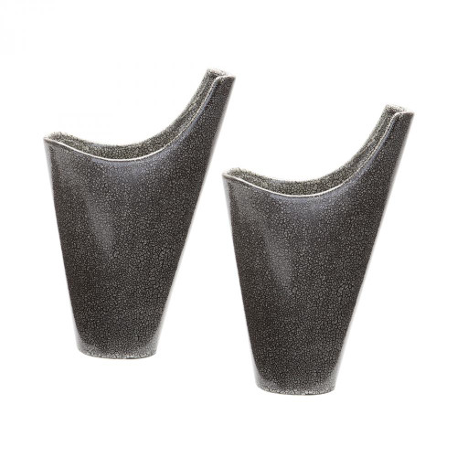 Dimond Reaction FilLED Vases In Grey - Set Of 2 857124/S2