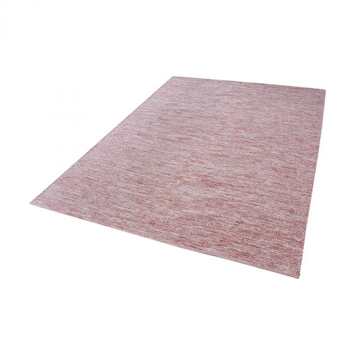 Dimond Alena Handmade Cotton Rug In Marsala And White - 36X60