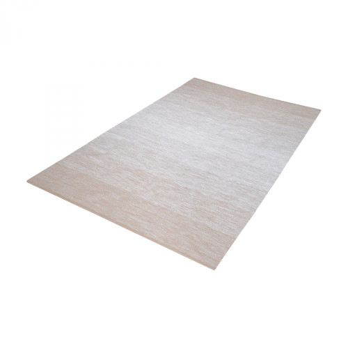 Dimond Delight Handmade Cotton Rug In Beige And White - 36X60