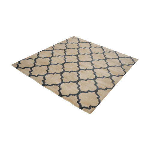 Dimond Wego Handwoven Printed Wool Rug In Natural And B 16X16