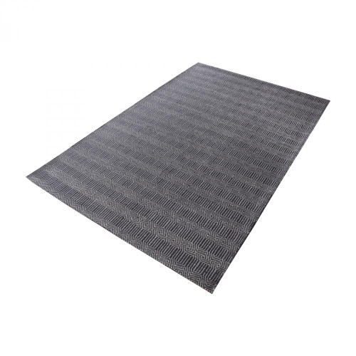 Dimond Ronal Handwoven Cotton Flatweave In Charcoal - 2 8905-093