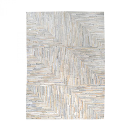Dimond Karim Hand Stitched Leather Patchwork Rug 16X16 8905-364
