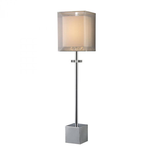 Dimond Exeter Table Lamp In Chrome With Double-Framed Shade D1408