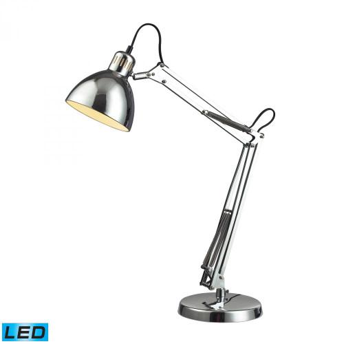 Dimond Ingelside LED Desk Lamp In Chrome With Chrome Shade D2176-LED