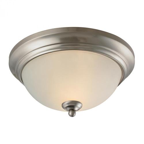 Elk Cornerstone Huntington 2 Light Ceiling Lamp In Brushed Nickel 7002Fm/20