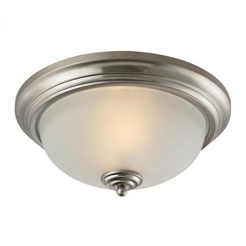 Elk Cornerstone Huntington 3 Light Ceiling Lamp In Brushed Nickel 7003Fm/20
