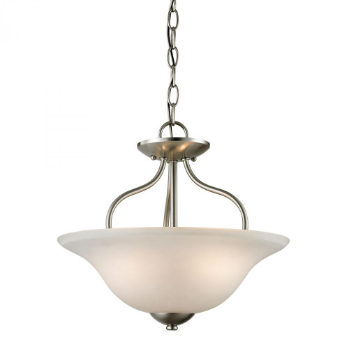 Elk Cornerstone Conway 2 Light Nickel Semi-Flushmount Ceiling Light-1202CS/20