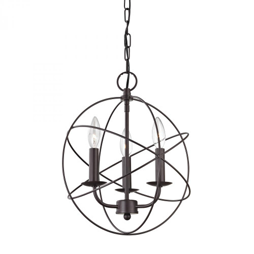 Elk Cornerstone Williamsport 3 Light Bronze Mini Chandelier-1513CH/10
