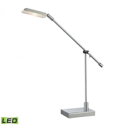 Dimond Bibliotheque Adjustable LED Desk Lamp In Polished Chrome D2708