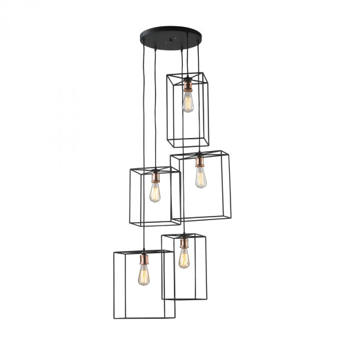Dimond All Black Pendant Light-D2735