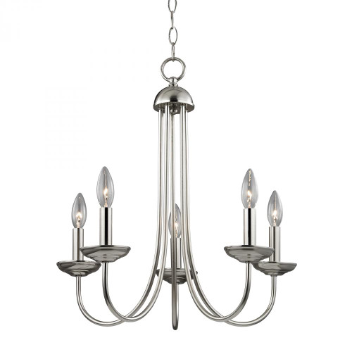 Chandeliers By Elk Cornerstone Williamsport 5 Light Chandelier In Brushed Nickel 20x23 1525CH/20