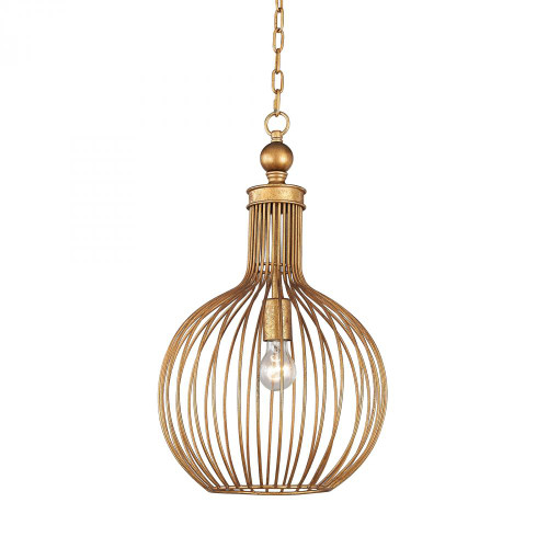 Dimond Five Cays Gold Leaf Pendant Light-D2985