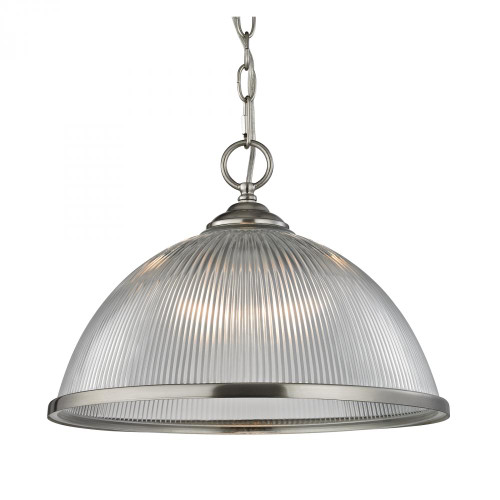 Elk Cornerstone 15 Inch Liberty Park Nickel Pendant Light-7691PL/20