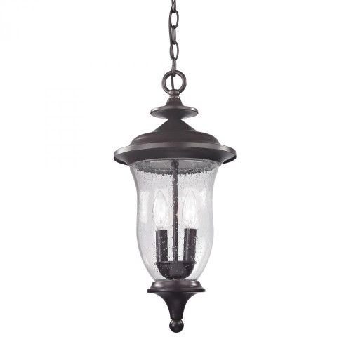 Elk Cornerstone Trinity Pendant Lantern In Oil Rubbed Bronze 8002Eh/75