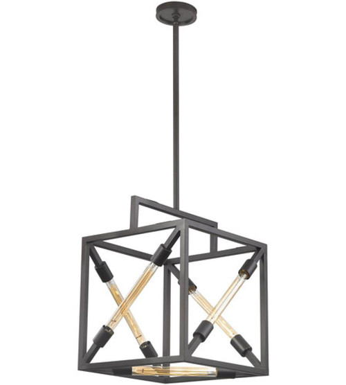 Dimond Box Tube Oil Rubbed Bronze Pendant Light-D3207