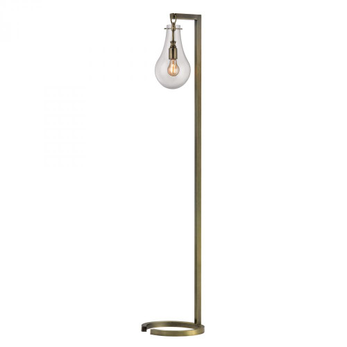 Dimond Antique Brass Floor Lamp With Clear Glass Shade D329