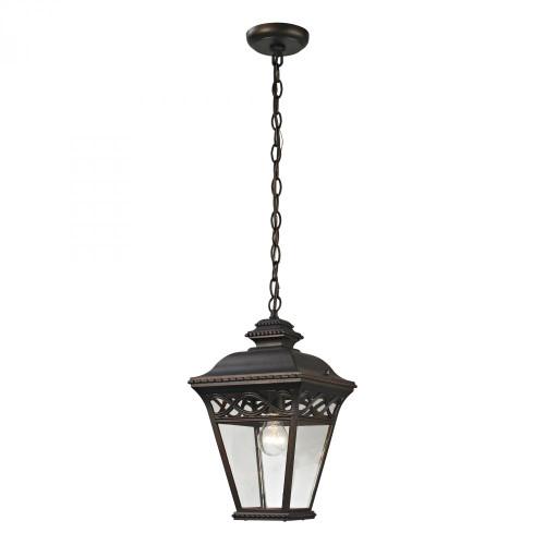 Elk Cornerstone Mendham 1 Light Exterior Pendant Lantern In Hazelnut 8511Eh/70