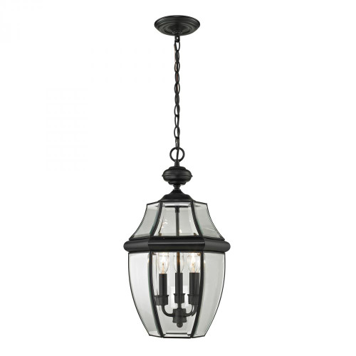 Elk Cornerstone Ashford 3 Light Exterior Hanging Lantern In Black 8603Eh/60