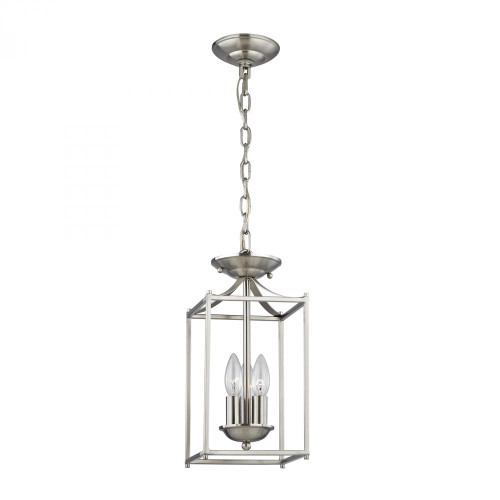 Elk Cornerstone 7 Inch Foyer Nickel Pendant Light-7713FY/20