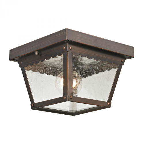 Elk Cornerstone Springfield 2 Light Exterior Flush Mount In Haze 8X425 9102Ef/70