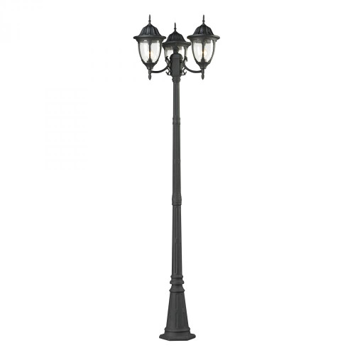 Elk Cornerstone Central Square 3 Light Outdoor Post Lamp In Charcoal 7153Ep/73