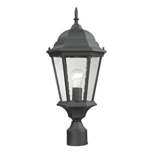 Elk Cornerstone Temple Hill Pendant Lantern In Matte Textured Black 8101Ep/65