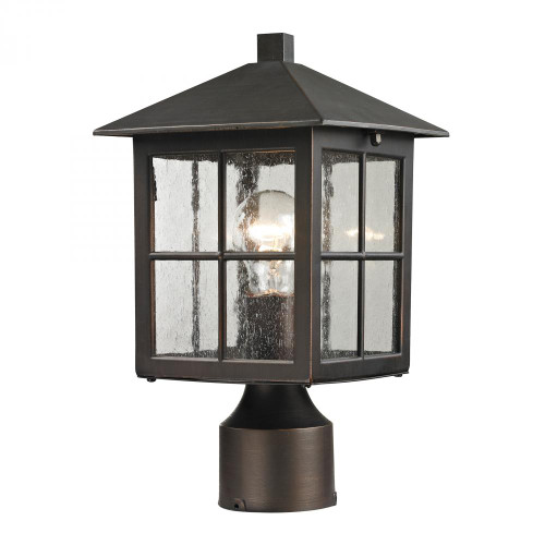 Elk Cornerstone Shaker Heights Post Lantern In Hazelnut Bronze 8201Ep/70
