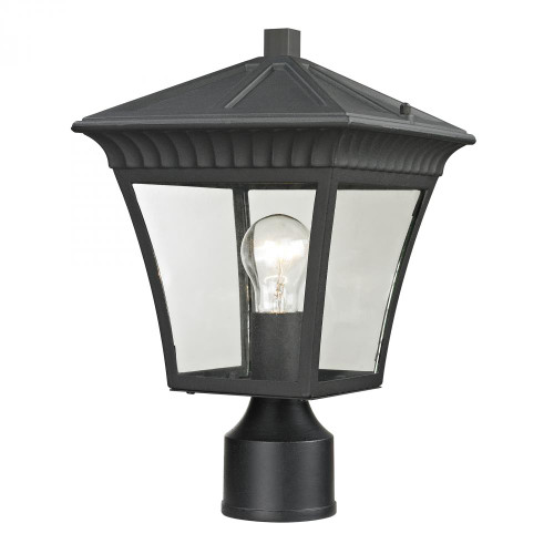 Elk Cornerstone Ridgewood Post Lantern In Matte Textured Black 8411Ep/65