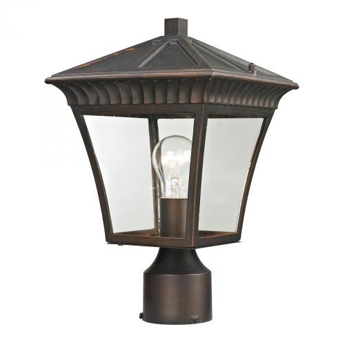 Elk Cornerstone Ridgewood Post Lantern In Hazelnut Bronze 8411Ep/70