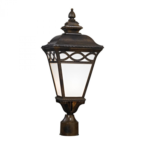 Elk Cornerstone Mendham 1 Light Post Lantern In Hazelnut Bronze 8561Ep/70