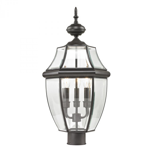 Elk Cornerstone Ashford 3 Light Exterior Post Lantern In Oil Rubbed Bronze 8603Ep/75