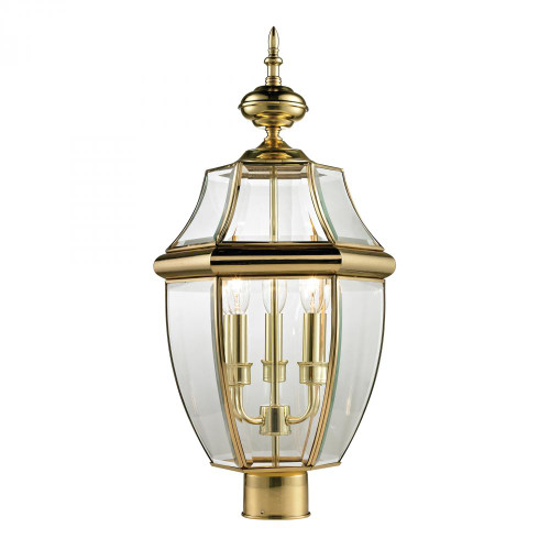 Elk Cornerstone Ashford 3 Light Exterior Post Lantern In Antique 13X23 8603Ep/85