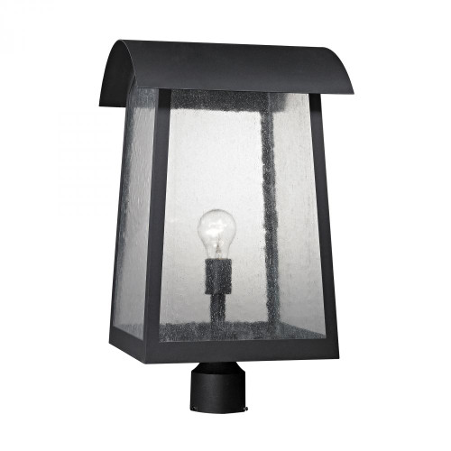 Elk Cornerstone Prince Street 1 Light Exterior Post Lamp In Matte Black 8721Ep/65