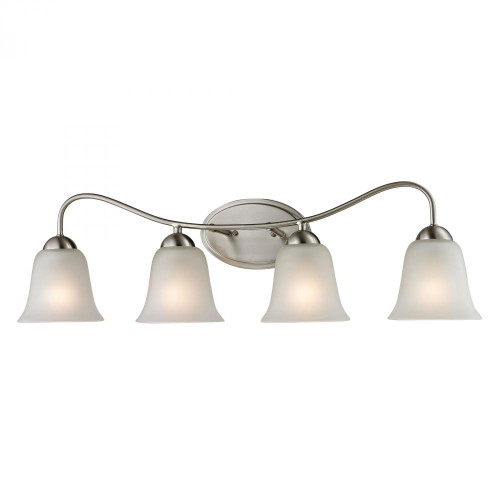 Elk Cornerstone Conway 4 Light Bath Bar In Brushed Nickel 1204Bb/20