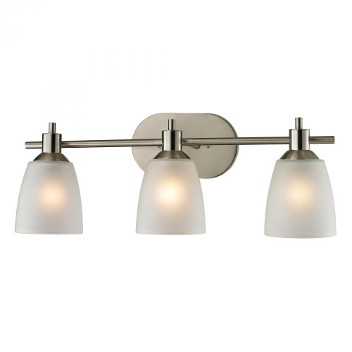 Elk Cornerstone Jackson 3 Light Bath Bar In Brushed Nickel 1303Bb/20