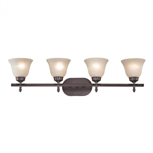 Elk Cornerstone Santa Fe 4 Light Bath Bar In Oil Rubbed Bronze 2204Bb/10